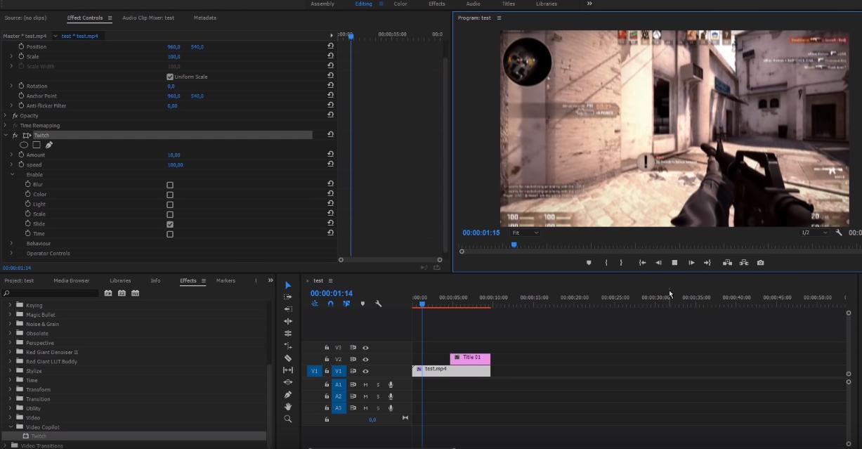 Как сделать эффект тряски в Adobe Premiere Pro