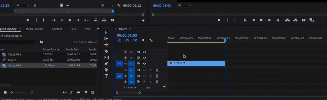 Как замедлить видео в Premiere Pro