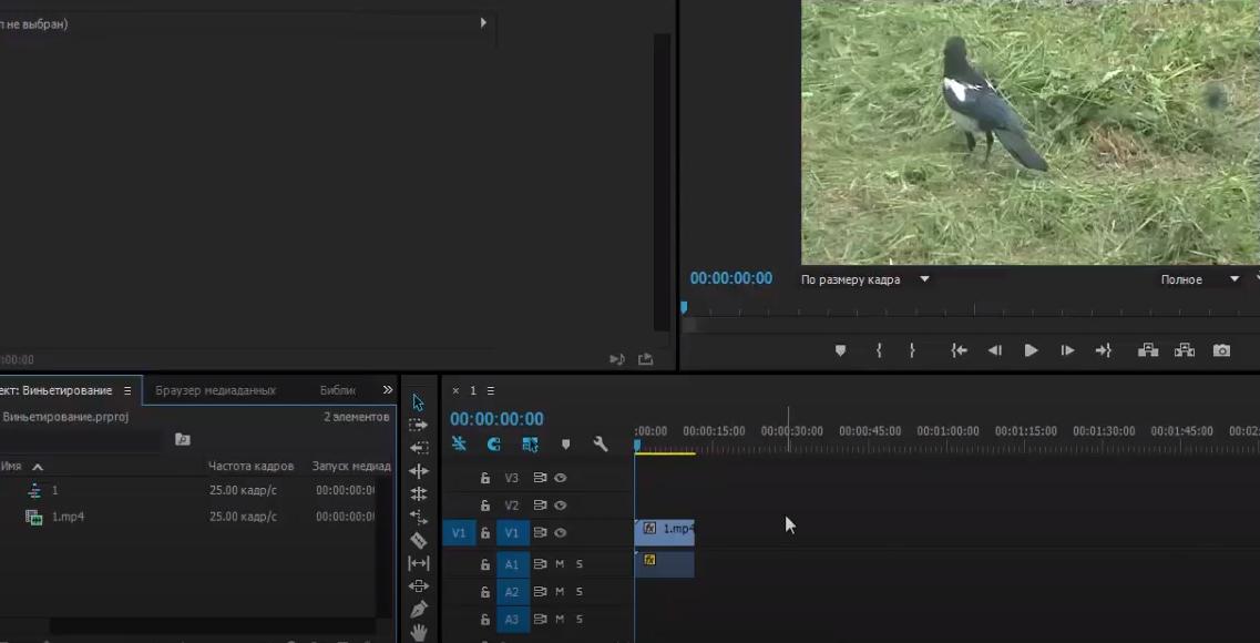 Как сделать затемнение в Premiere Pro