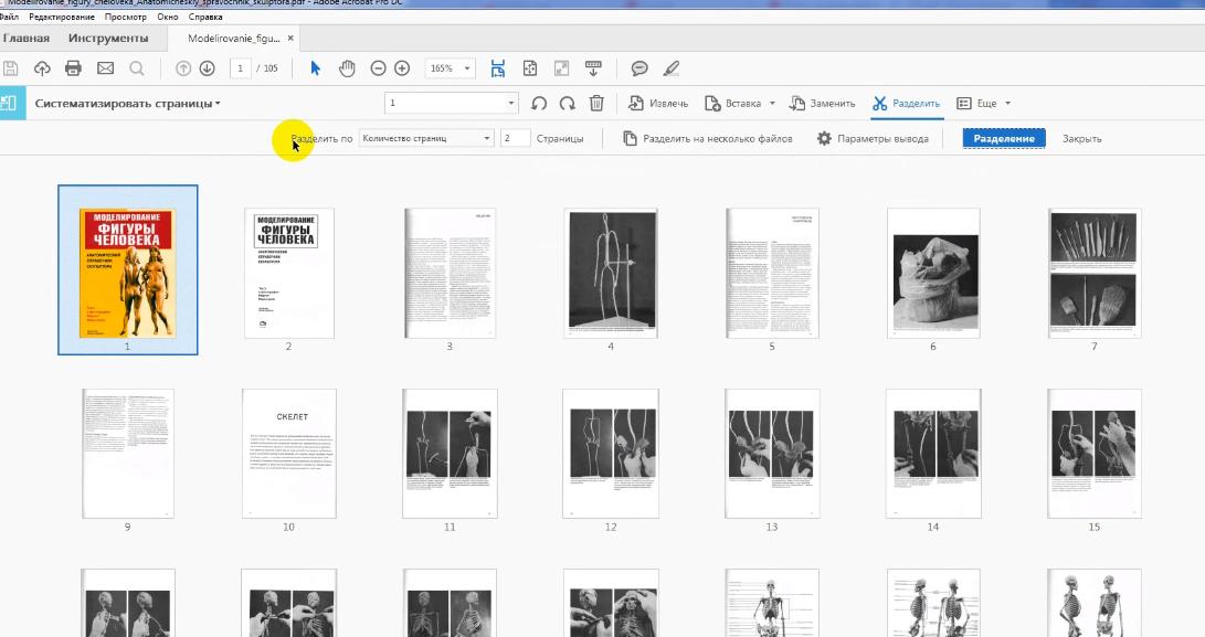 Как разделить страницы в Adobe Acrobat Pro