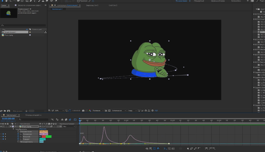 анимация персонажа в after effects