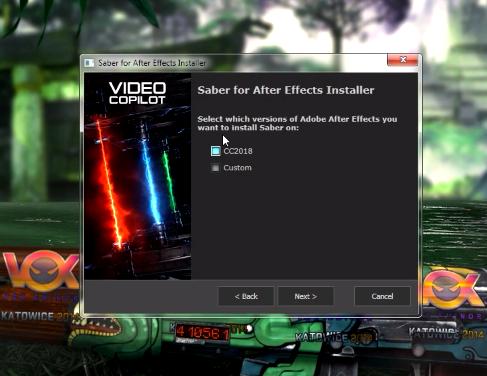 как добавить saber в after effects