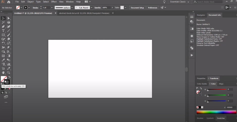 adobe illustrator как сделать фон