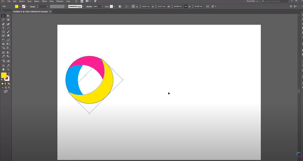 создать логотип illustrator