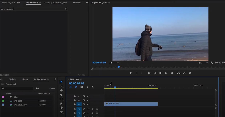 стоп кадр premiere pro