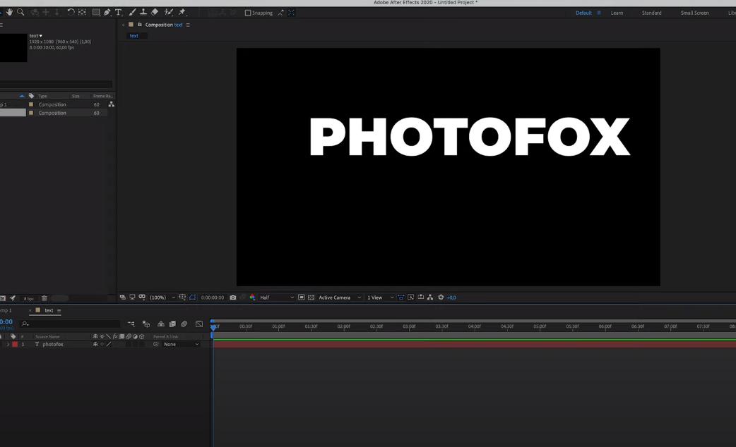 анимировать текст After Effects