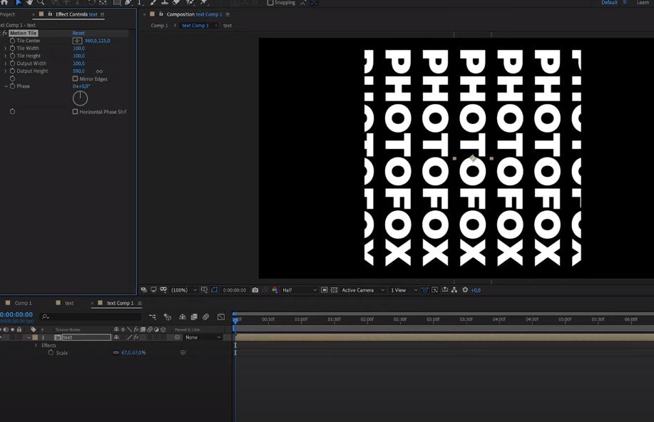 появление текста в after effects