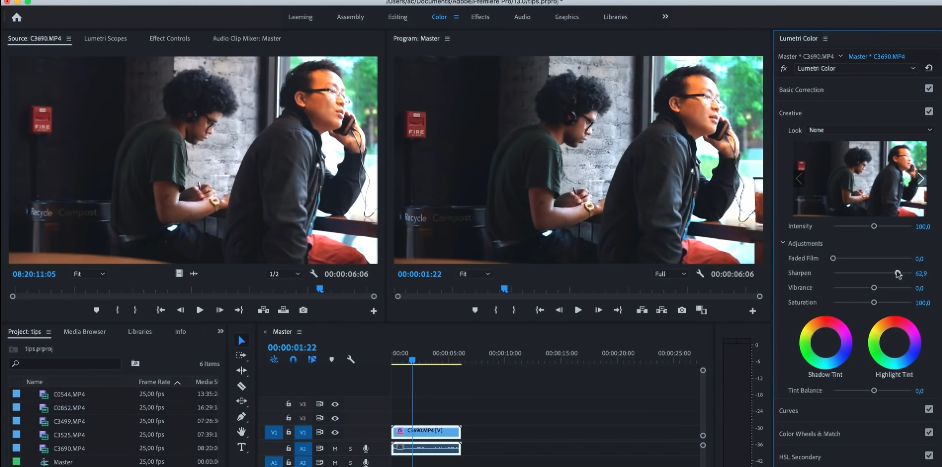 premiere pro улучшить качество видео