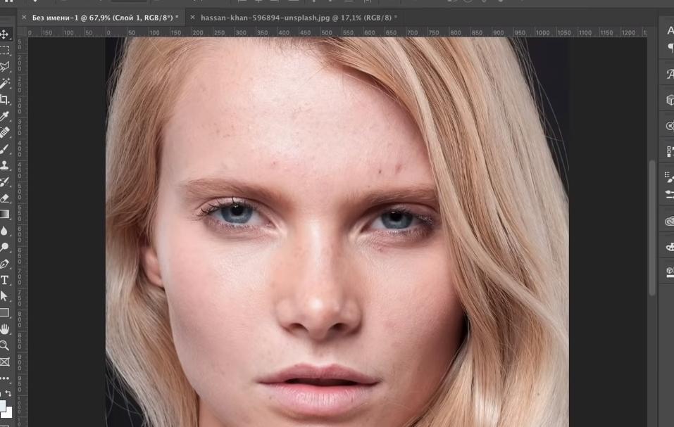гладкая кожа в фотошопе