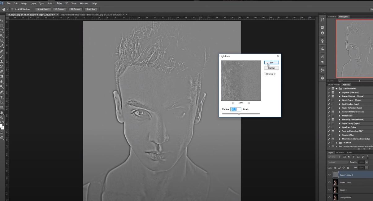 как увеличить качество фото в фотошопе
