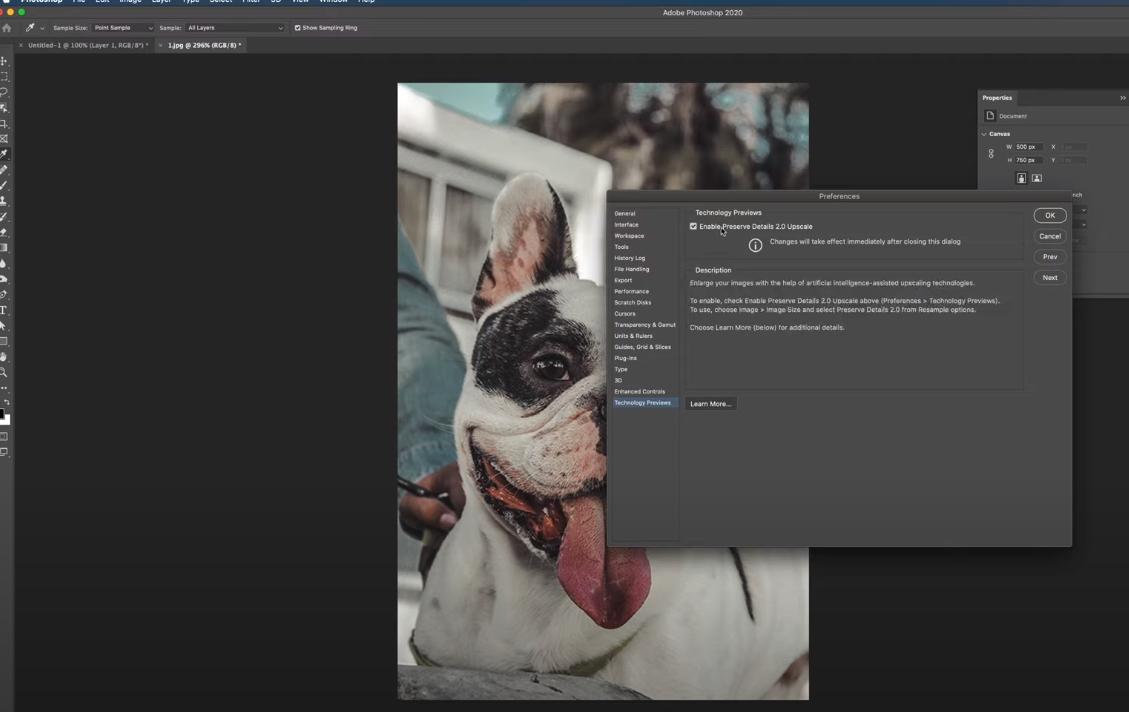 как увеличить размер изображения в фотошопе