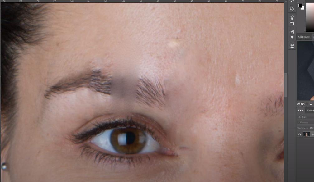 где в фотошопе точечная восстанавливающая кисть