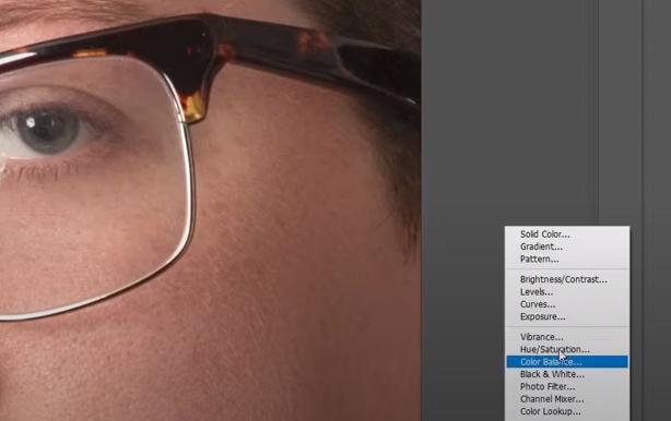 как убрать отражение в очках в фотошопе