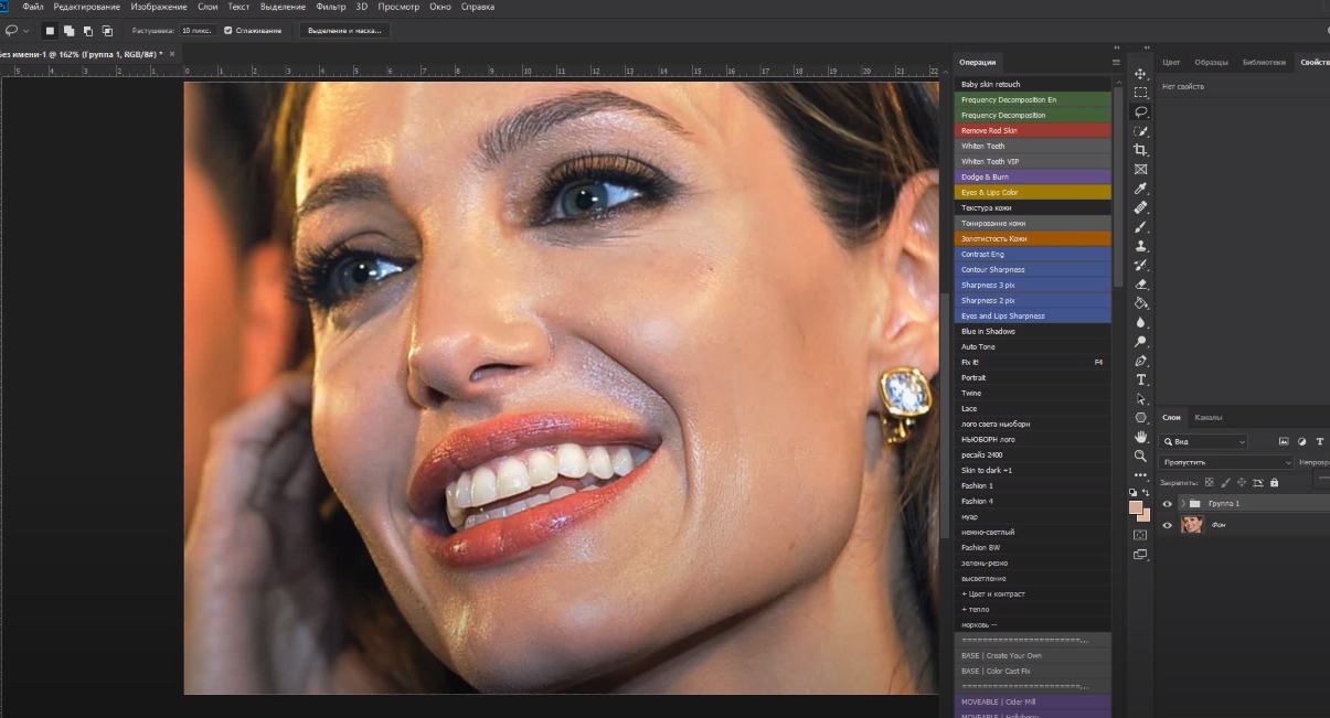 Как избавиться от жирного блеска на фото при помощи Photoshop