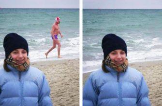 Как убрать человека с фото в Photoshop